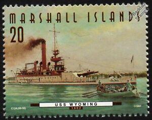USS WYOMING (BM-10) (USS Cheyenne) Coastal Monitor Warship Stamp (1997)