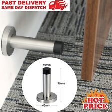 Metal Door Stop Wall Mount Door Stopper Bumper Protector Stainless Steel Rubber