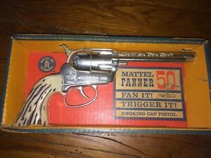 Vintage Mattel Fanner 50 Children's Toy Cap Gunall have safety orange plug