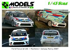 1/43 Decal Ford Focus Wrc 2003 MacHale Galway Rally 2007 no ixo spark hpi