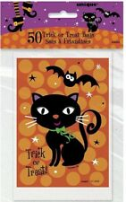 """50 Plastic TREAT BAGS """"Spooky Boots"""" Favors 4""""X6"""" HALLOWEEN Party Supplies LOOT"""