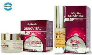 Gerovital H3 Evolution Anti-ageing Night Cream & Perfect Anti-aging Serum, 45+