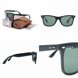 Ray Ban RB4440NF 601/71 44mm Shiny Black w/Dark Green Lens Sunglasses -Authentic