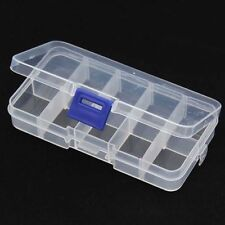 10 Cells Detachable Empty Storage Container Box Case Nail Art Tips Drug csae