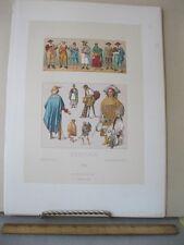 Vintage Print,MEXICAIN,Chromo,Costume Historique,Raceriet,1870-80