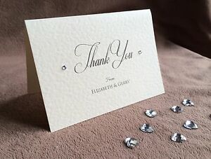 Personalised Handmade Wedding Thank You Cards. Claire. For Wedding, anniversary