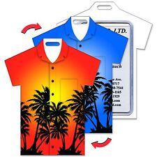 Lenticular Flip Luggage Bag Travel Tag T-Shirt Shape Palm Trees #LTST-363#