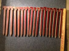 """18 - Rare Wooden 18"""" Inch TENT Ground STAKES Pegs CAMPING Hooks Vintage Wood"""