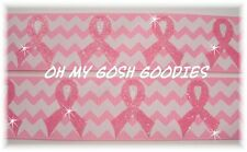 1.5 CHEVRON GLITTER PINK BREAST CANCER AWARENESS GROSGRAIN RIBBON 4 HAIRBOW BOW