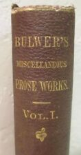 Bulwer's Miscellaneous Prose Works--Bulwer & Lytton / 1868 1st Ed / Vol 1 (of 2)