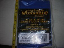 (2) HEAVY Duty Blue Tarp Cover 4' X 6' WORKSHOP Camping Survival,Yards,stoarge