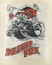 "ED ""BIG DADDY"" ROTH DESERT FOX ORIGINAL DECAL STICKER 1968"