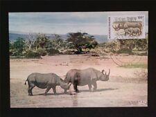TOGO MK 1974 FAUNA NASHORN RHINO MAXIMUMKARTE CARTE MAXIMUM CARD MC CM c7751