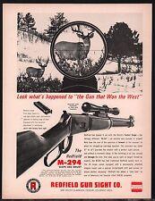 1964 REDFIELD M-294 Gun Sight Print AD Page Vintage Advertising