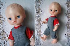 "Russian Vintage Doll Zhenia, 25cm, Plastic, Inserted Eyes, ""Pobeda"", Ussr, 1981"