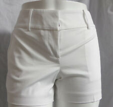 """""""ANN TAYLOR"""" WHITE WALKING CASUAL DRESS SIGNATURE FIT SHORTS SIZE: 10P NWT"""