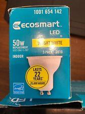 Ecosmart 50 Watt LED Light Bulb GU10 Plastic Reflector 2 Bulb Pack