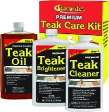 Starbrite Marine Premium Teak Care 3 Quart Kit Teak Cleaner, Brightener & Oil