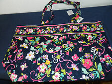 "VERA BRADLEY ""RIBBONS"" GRAND TOTE RETIRED PATTERN NWTS"