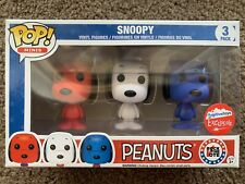 Funko Pop Vinyl Minis Peanuts Snoopy Rock the Vote 3Pack Fugitive Toys Exclusive