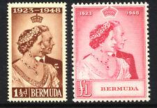 Bermuda  1948  Royal Silver Wedding Fine Unmounted Mint Pair