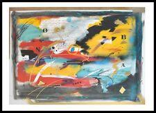 S. Coccia Hommage II Poster Bild Kunstdruck mit Alu Rahmen in schwarz 60x80cm