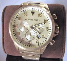 Michael Kors MK8491 Men's Gage Gold Tone Stainless Chronograph Watch NWT $275