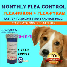 1 Year supply 12 Capsules 2 In 1 Monthly Flea Control 410mg+57mg Dogs 45-90lbs