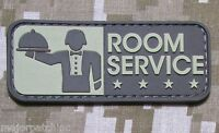 ROOM SERVICE! PVC ARMY MORALE ISAF MILITARY TACTICAL MILSPEC DESERT HOOK PATCH