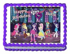 MY LITTLE PONY Equestria Girls edible cake topper decoration cake image sheet