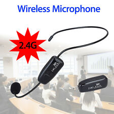 2 in 1 Headset Handheld 2.4g Wireless Microphone 3.5mm for Voice Booster F1