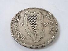 1937 Irish Florin coin 2s Eire 75% Silver (ref 3)