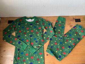 Hanna Andersson Christmas Tree Ornament Pajamas PJ's Size 12 150cm Holiday Set