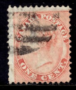 CANADA #14 1c ROSE, 1859 FIRST CENTS ISSUE, USED