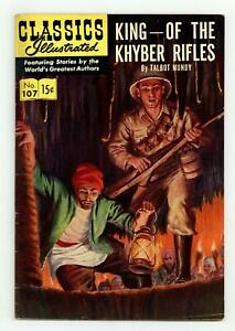 Classics Illustrated 107 King of the Khyber Rifles #1 VG+ 4.5 1953