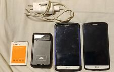 LG G3 D851 T-Mobile White Color Clean IMEI - AS IS PARTS ONLY (LOT OF 2 PHONES)