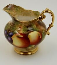 ANTIQUE ROYAL WORCESTER  FRUITS & GOLD PITCHER CREAMER  ~WOW ~ VERY RARE ~