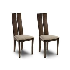 Julian Bowen Cayman Dining Chair - Walnut Finish Set of 2