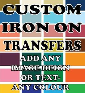 Personalised Customizes Iron On Transfer TShirt Vinyl Add Images Text Heat Press