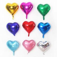 1PCS 18 '' Silver Heart Shape Foil Balloons Wedding Birthday Party Decor