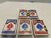 5 Decks Bicycle Rider Back 808 Poker Standard Playing Cards Red & Blue 1 New