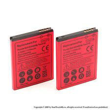 2 x 1700mAh Battery for HTC Thunderbolt ADR6400 T-Mobile myTouch 4G