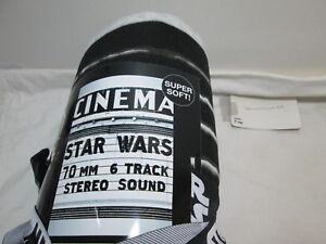 """New STAR WARS Cinema Sweatshirt Blanket 60""""x90"""" Black, Grey, White  ~ Super Soft"""