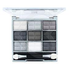 Laval 9 Pc Eye Shadow Palette Grey Collection White Black Silver Matte & Shimmer