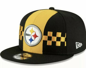 Pittsburgh Steelers New Era 59FIFTY NFL Fitted Hat Size 7 3/8 FAST FREE SHIPPING
