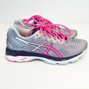 Asics Gel-Kayano 23 Womens Sz US 8 Running Shoes/Sneakers T699N Silver/Pink