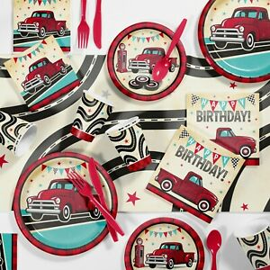 Vintage Red Truck Party Supplies Kit