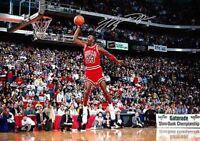 Michael Jordan Rookie Slam dunk Basketball Signed Autograph Print A4 Poster