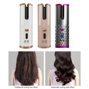 Auto Rotating Ceramic Hair Curler Cordless Hair Waver Curling Iron LCD Styling