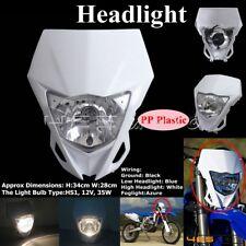 Supermoto Dirt Bikes Enduro Front Headlight Head Lamp For Honda CRF50F CRF White